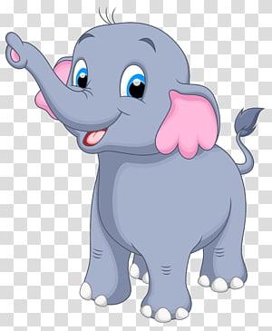 Gajah, Gajah Kecil, ilustrasi gajah abu-abu png