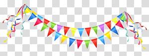 Pesta Ulang Tahun, Pesta Streamer, ilustrasi panji berbagai macam warna png