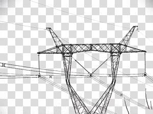 Tegangan tinggi Distribusi daya listrik Saluran listrik overhead, Kawat tegangan tinggi png