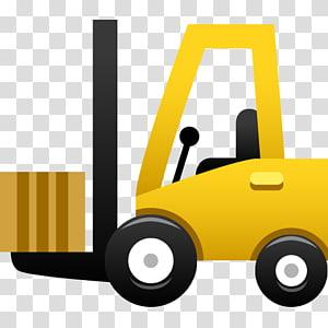 Forklift Alat berat Truk Mesin Logistik, truk forklift kuning kartun png