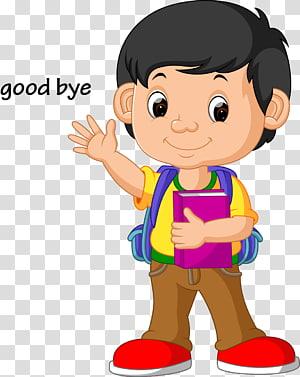 ilustrasi Sekolah, selamat malam anak-anak, ilustrasi animasi anak laki-laki png