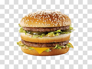burger dengan dua steak dan biji wijen, Hamburger McDonalds Big Mac Canada Whopper McDonalds Chicken McNuggets, burger cepat saji png